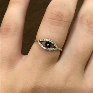 Jewelry - SALE 14k Gold Plated/Sterling Silver Evil Eye Ring
